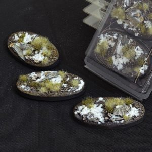 Gamers Grass   Battle-ready Winter Bases Winter Oval 75mm (x3) - GGB-WO75 -