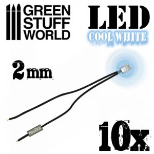 Green Stuff World   Lighting & LEDs LED Lights Cool White - 2mm - 8436554364794ES - 8436554364794