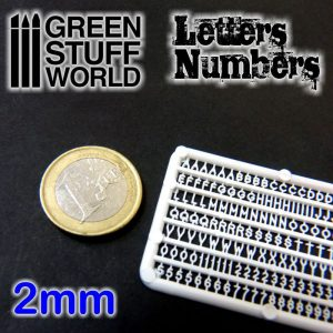 Green Stuff World   Modelling Extras Letters and Numbers 2mm - 8436554364350ES - 8436554364350