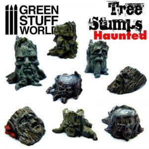 Green Stuff World   Green Stuff World Conversion Parts Haunted Tree Stumps - 8436574500394ES - 8436574500394