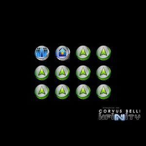 Micro Art Studio   Infinity Tokens Infinity Tokens Regular (12) GREEN - P00045 -