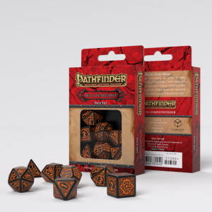 Q-Workshop   RPG / Polyhedral Pathfinder Hell's Vengeance Dice Set (7) - SPAT69 - 5907699493524