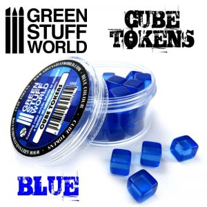 Green Stuff World   Status & Wound Markers Blue Cube tokens - 8436554369645ES - 8436554369645