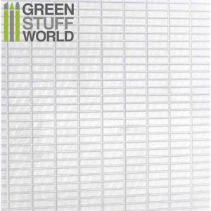 Green Stuff World   Plasticard ABS Plasticard - LARGE RECTANGLES Textured Sheet - A4 - 8436554361137ES - 8436554361137