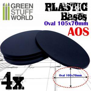 Green Stuff World   Plain Bases Plastic Bases - Oval Pill 105x70mm AOS - 8436574503913ES - 8436574503913