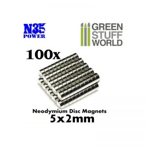Green Stuff World   Magnets Neodymium Magnets 5x2mm - 100 units (N35) - 8436554365623ES - 8436554365623