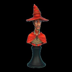 Micro Art Studio   Discworld Miniatures Discworld Rincewind Bust UNPAINTED (1) - D24002 - 5900232360369