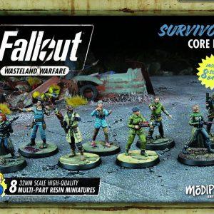 Modiphius Fallout: Wasteland Warfare  Fallout: Wasteland Warfare Fallout: Survivors Core Box - MUH051243 - 5060523340323