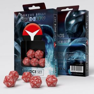 Q-Workshop Infinity | Infinity RPG  Nomads Nomads D20 Dice Set - 285045 - 2850450000000