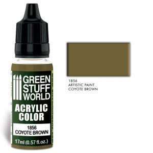 Green Stuff World   Acrylic Paints Acrylic Color COYOTE BROWN - 8436574502152ES - 8436574502152