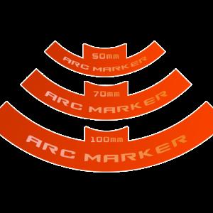 Micro Art Studio   Templates SWL LOF Arc Markers (3) - P00242 - 5905133597357