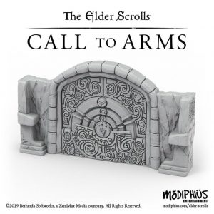 Modiphius (Direct) The Elder Scrolls: Call to Arms  The Elder Scrolls: Call To Arms The Elder Scrolls: Call to Arms Puzzle Door Terrain Set - MUH052053 - 5060523343355