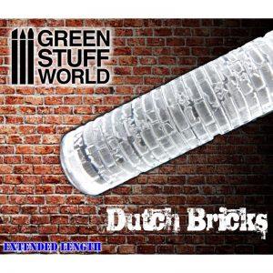 Green Stuff World   Rolling Pins Rolling Pin DUTCH BRICKS - 8436554363360ES - 8436554363360