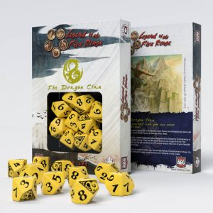 Q-Workshop   Q-Workshop Dice Legend of the Five Rings Dragon Clan 10D10 Dice (10) - SL5R58 - 5907699492299