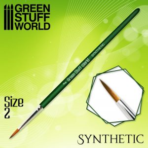 Green Stuff World   Synthetic Brushes GREEN SERIES Synthetic Brush - Size 2 - 8436574506907ES - 8436574506907