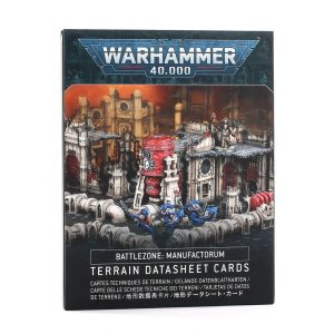 Games Workshop Warhammer 40,000  Warhammer 40000 Essentials Battlezone: Manufactorum – Terrain Datasheet Cards - 60050199040 - 5011921141128