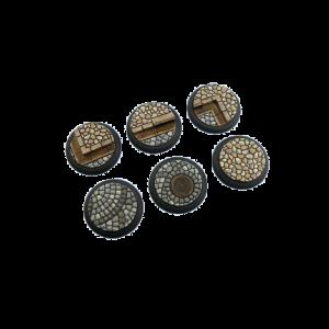 Micro Art Studio   Cobblestone Bases Cobblestone Bases, WRound 40mm (2) - B00342 - 5900232358861