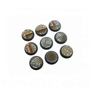 Micro Art Studio   Cobblestone Bases Cobblestone Bases, WRound 30mm (5) - B00341 - 5900232358854