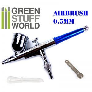 Green Stuff World   Airbrushes & Accessories Dual-action GSW Airbrush 0.5 mm - 8436554369676ES - 8436554369676