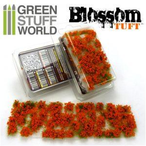 Green Stuff World   Tufts Blossom TUFTS - 6mm self-adhesive - ORANGE Flowers - 8436554367801ES - 8436554367801