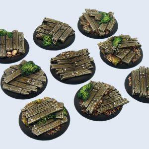 Micro Art Studio   Wood Bases Wood Bases, WRound 30mm (5) - B00641 - 5900232353972