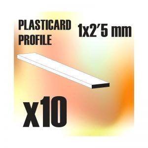 Green Stuff World   Plasticard ABS Plasticard - Profile PLAIN 2.5mm - 8436554366941ES - 8436554366941