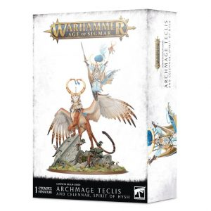 Games Workshop Age of Sigmar  Lumineth Realm-lords Archmage Teclis and Celennar, Spirit of Hysh - 99120210038 - 5011921137008