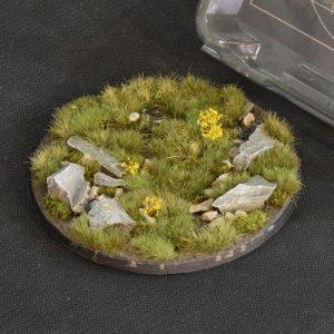 Gamers Grass   Battle-ready Highland Bases Highland Round 100mm (x1) - GGB-HLR100 -