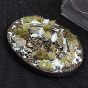 Gamers Grass   Battle-ready Winter Bases Winter Oval 105mm (x1) - GGB-WO105 -