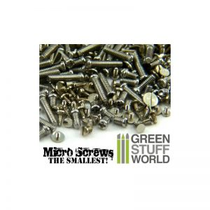 Green Stuff World   Modelling Extras 1200 Micro Screws - 0.1mm to 1.2mm - 8436554366590ES - 8436554366590
