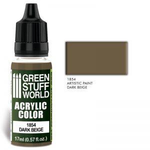 Green Stuff World   Acrylic Paints Acrylic Color DARK BEIGE - 8436574502138ES - 8436574502138