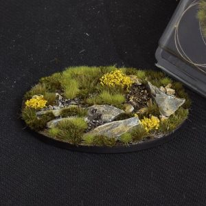 Gamers Grass   Battle-ready Highland Bases Highland Oval 105mm (x1) - GGB-HLO105 -