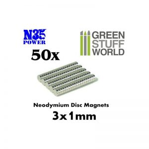 Green Stuff World   Magnets Neodymium Magnets 3x1mm - 50 units (N35) - 8436554365517ES - 8436554365517