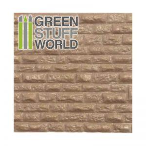 Green Stuff World   Plasticard ABS Plasticard - ROUGH ROCK WALL Textured Sheet - A4 - 8436554361090ES - 8436554361090