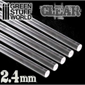 Green Stuff World   Acrylic Rods Acrylic Rods - Round 2.4 mm CLEAR - 8436554367559ES - 8436554367559