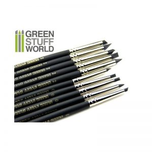 Green Stuff World   Green Stuff World Tools Colour Shapers Brushes COMBO 0 and 2 - BLACK FIRM - 8436554365074ES - 8436554365074
