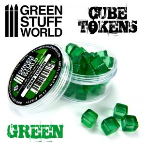 Green Stuff World   Status & Wound Markers Green Cube tokens - 8436554369638ES - 8436554369638