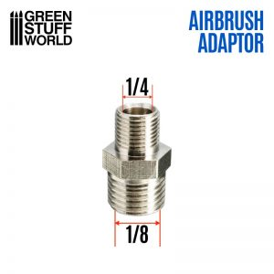 Green Stuff World   Airbrushes & Accessories Airbrush Thread Adapter 1/4'' to 1/8'' - 8436574507805ES - 8436574507805