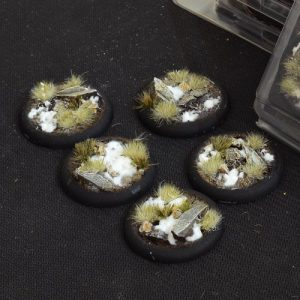 Gamers Grass   Battle-ready Winter Bases Winter RoundLip 40mm (x5) - GGB-WLR40 -