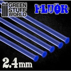Green Stuff World   Acrylic Rods Acrylic Rods - Round 2.4 mm Fluor BLUE - 8436554367528ES - 8436554367528