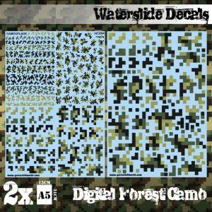 Green Stuff World   Decals Waterslide Decals - Digital Forest Camo - 8436574507539ES - 8436574507539