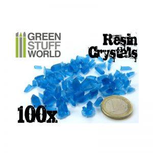 Green Stuff World   Green Stuff World Conversion Parts BLUE Resin Crystals - 8436554362820ES - 8436554362820