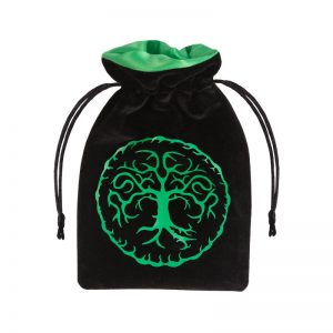Q-Workshop   Dice Accessories Forest Black & green Velour Dice Bag - BFOR121 - 5907699493272