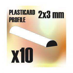 Green Stuff World   Plasticard ABS Plasticard - Profile SEMICIRCLE 3 mm - 8436554366101ES - 8436554366101