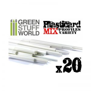 Green Stuff World   Plasticard ABS Plasticard - Profile - 20x Variety Pack - 8436554366279ES - 8436554366279