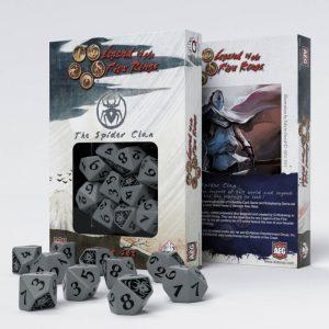 Q-Workshop   Q-Workshop Dice Legend of the Five Rings Spider Clan 10D10 Dice (10) - SL5R64 - 5907699492350