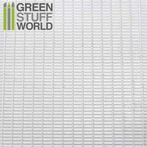 Green Stuff World   Plasticard ABS Plasticard - SMALL RECTANGLES Textured Sheet - A4 - 8436554361113ES - 8436554361113