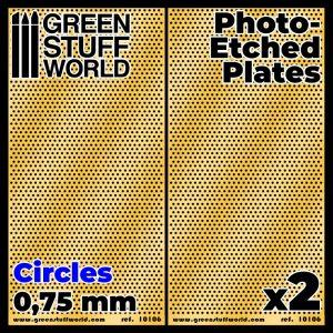 Green Stuff World   Etched Brass Photo-etched Plates - Medium Circles - 8436574506051ES - 8436574506051
