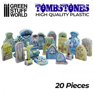 Green Stuff World   Modelling Extras 20x Gravestones Plastic Set - 8436574505481ES - 8436574505481