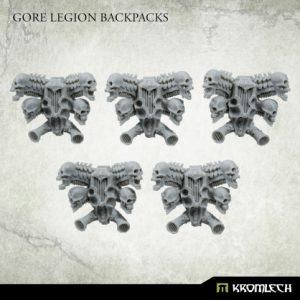 Kromlech   Heretic Legionary Conversion Parts Gore Legion Backpacks (5) - KRCB246 - 5908291070038